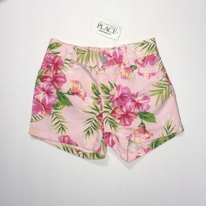 NWT C.Palace 3T pink floral tropical shorts